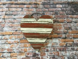 Barn wood heart