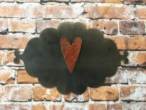 Barn wood heart with magnet – 2 1/2""