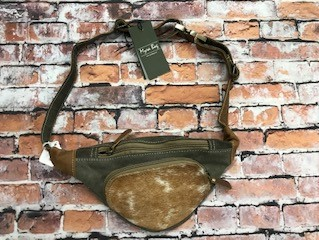 Brown and Gray Fanny Pack