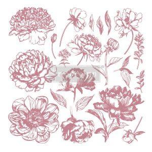 Linear Floral Decor Stamp