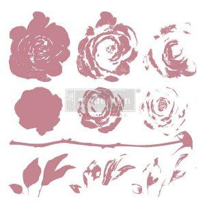 Mystic Rose Decor Stamp